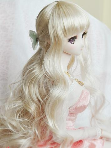 BJD Girl Light Gold Curly H...