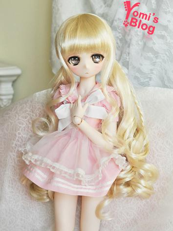 BJD Girl Gold Hair wig for ...