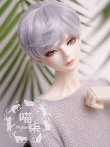 1/6 Boy Wig Silver purple Short Hair for YSD Size Ball-jointed Doll