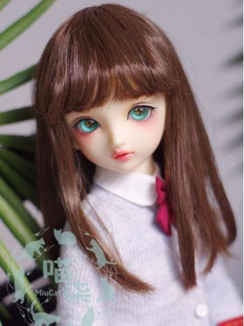 1/3 1/4 1/6 Girl Wig Dark Brown Hair for SD/MSD/YSD Size Ball-jointed Doll