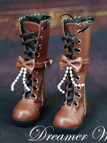1/3 1/4 Shoes Female Brown Boots for SD/MSD Ball-jointed Doll