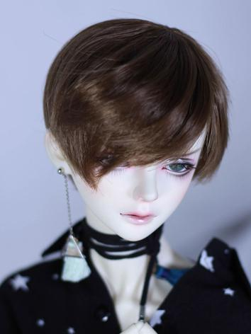 BJD Wig Boy Brown/Gold/Pink/Gray Short Hair Wig for SD Size Ball-jointed Doll