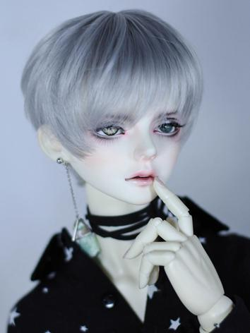 BJD Wig Boy Black/Gold/Silver Gray Short Hair Wig for SD Size Ball-jointed Doll