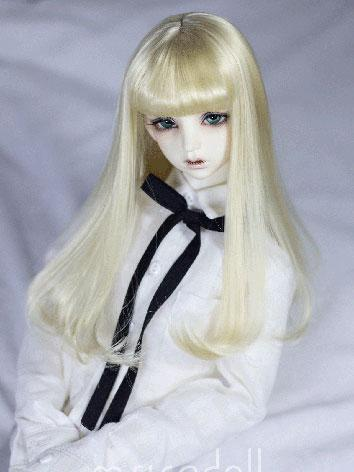 BJD Wig Girl Black/Gold Hair Wig for SD/MSD Size Ball-jointed Doll