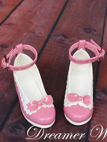 1/3 1/4 Bjd Girl Pink Sweet Shoes for SD/MSD Ball-jointed Doll