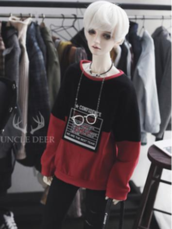 SD17 Boy Clothes Black&Red T-shirt for SD17/70cm Ball-jointed Doll