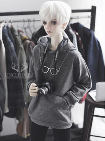 SD17 Boy Clothes Gray Hoodies T-shirt for SD17/70cm Ball-jointed Doll