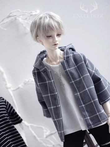 SD17 Boy Clothes Gray Gird Coat for SD17/70cm Ball-jointed Doll