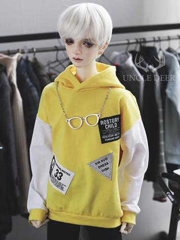 SD17 Boy Clothes Yellow Hoodies T-shirt for SD17/70cm Ball-jointed Doll