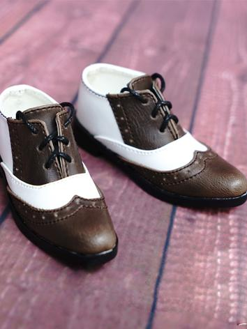 1/3 Shoes Brown&White Male ...