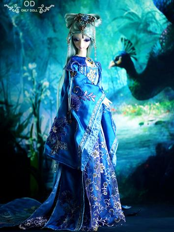 BJD Clothes Girl Blue Ancie...
