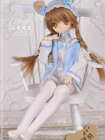 1/4 BJD Clothes Blue Cute Suit for MSD Ball-jointed Doll