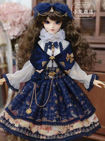 1/4 BJD Clothes Dark Blue/Wine Dress Suit for MSD Ball-jointed Doll