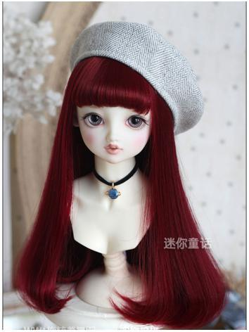 Girl Wine Hair 1/6 Wig for YSD Size Ball-jointed Doll