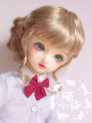 BJD Wig Girl Light Brown Ha...
