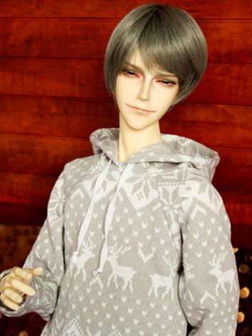 1/3 1/4 1/6 70cm Clothes Boy/Girl Gray T-shirt Hoodies Top for 70cm/SD/MSD/YSD Ball-jointed Doll