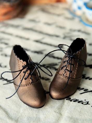 Bjd 1/3 1/4 Girl/Female Brown Ankle Boots Shoes for SD/MSD Ball-jointed Doll