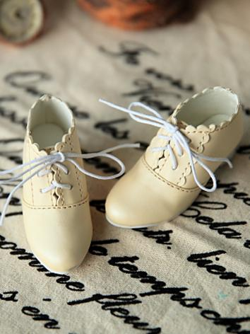 Bjd 1/3 1/4 Girl/Female Beige Ankle Boots Shoes for SD/MSD Ball-jointed Doll