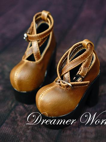 1/3 1/4 Bjd Girl Brown High-heels Shoes for SD/MSD Ball-jointed Doll