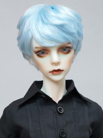 1/3 1/4 Wig Boy Short Light Blue Hair Wig for SD/MSD Size Ball-jointed Doll