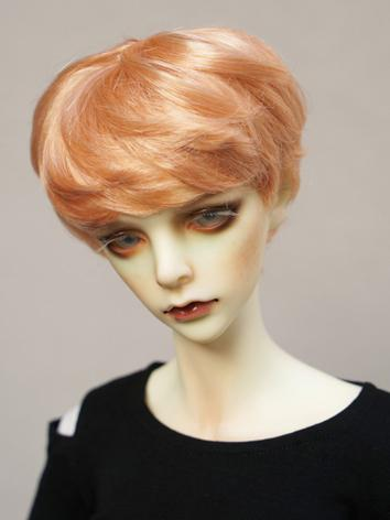 1/3 1/4 1/6 Wig Boy Short Orange Hair Wig for SD/MSD/YSD Size Ball-jointed Doll