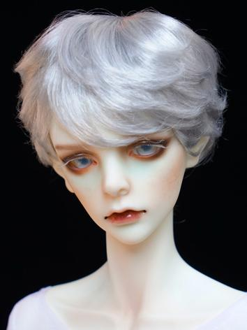 1/3 1/4 1/6 Wig Boy Short Silver White Hair Wig for SD/MSD/YSD Size Ball-jointed Doll