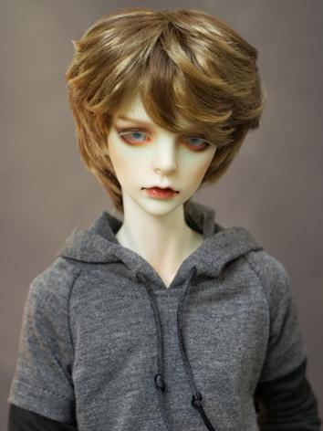 1/3 Wig Boy Short Dark Brown Hair Wig for SD Size Ball-jointed Doll