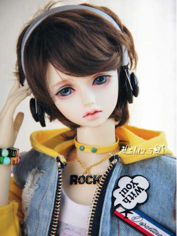 1/3 Wig Boy Dark Brown Short Hair[229] for SD Size Ball-jointed Doll