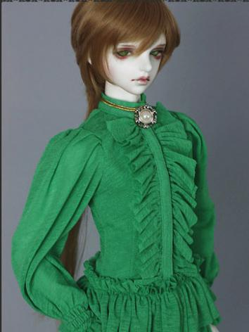 Bjd Clothes Green Retro Shi...