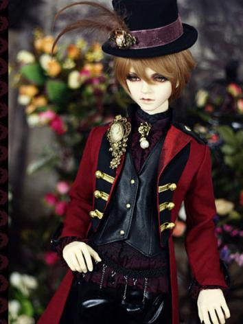 Bjd Clothes 【Common Kestrel】Europe Red Suit for SD10/SD13/SD17/70CM/72cm Ball-jointed Doll