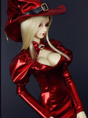 Bjd Clothes Girl Red Long D...