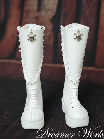 1/3 1/4 Shoes Male White Punk Boots for SD/MSD Ball-jointed Doll