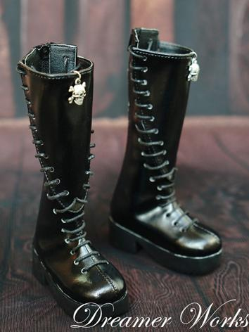 1/3 1/4 Shoes Male Black Punk Boots for SD/MSD Ball-jointed Doll