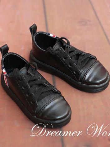 1/3 1/4 70cm Shoes Male Black Leisure Shoes for 70cm/SD/MSD Ball-jointed Doll