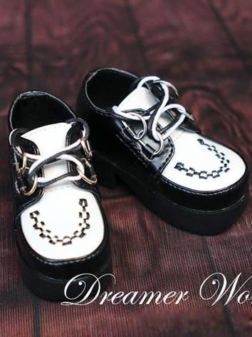 1/3 1/4 Shoes Male Black&Wh...