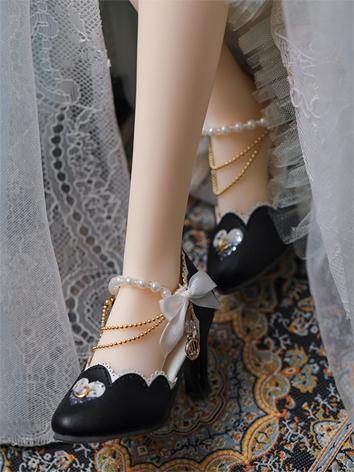 Bjd Shoes 1/3 BJD Youth Star Shoes-Black SH317111H for SD Size Ball-jointed Doll
