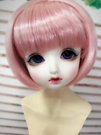 BJD Wig Girl Pink/Light Gol...