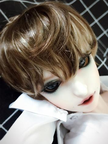 BJD Wig Boy Brown Short Hair Wig for SD/MSD/YSD Size Ball-jointed Doll