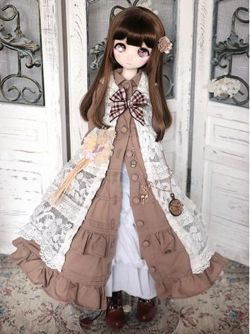 BJD Clothes Girl Brown Dres...