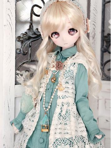 BJD Clothes Girl Green Dres...