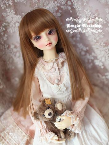 Girl Wig Brown Straight Hair Wig for SD/MSD Size Ball-jointed Doll