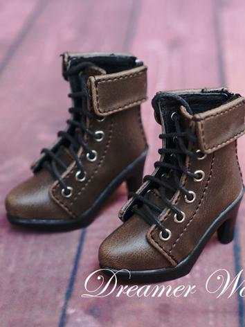 1/4 Bjd Girl Shoes Retro Ankle Boots for MSD Ball-jointed Doll