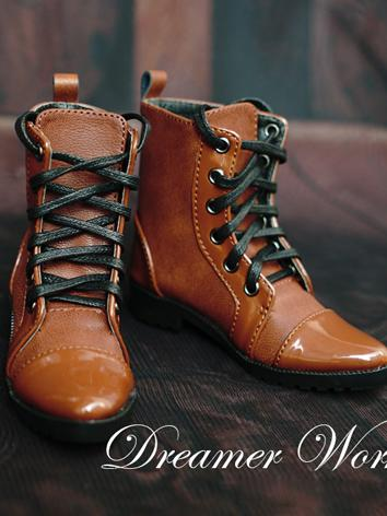 1/3 70cm Shoes Male Brown Ankle Boots for 70cm/SD Ball-jointed Doll