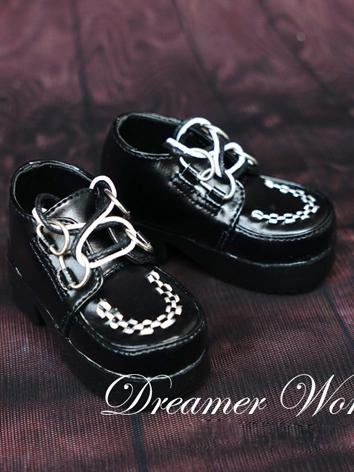 1/3 1/4 Shoes Male Black Punk Shoes for SD/MSD Ball-jointed Doll