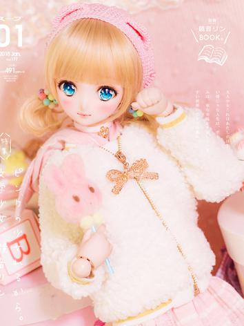 1/3 1/4 BJD Clothes Warm Wh...