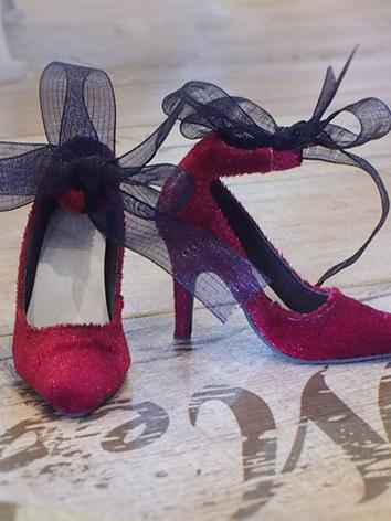 1/3 Girl Shoes Red/Black/Pi...
