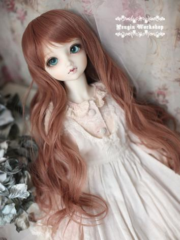Girl Wig Brown Hair Wig for SD/MSD Size Ball-jointed Doll