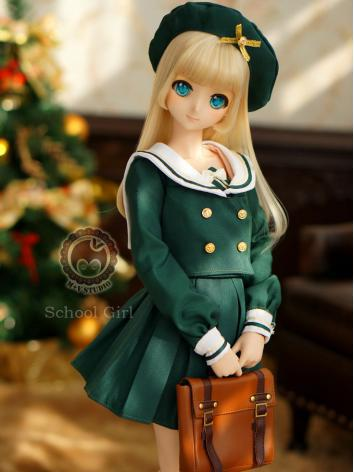 1/3 DD Clothes Girl Brown/Green/White Sailor Suit for DD/SD Size Ball-jointed Doll