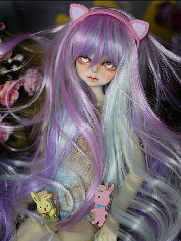 BJD Wig Mix Color Purple Wi...