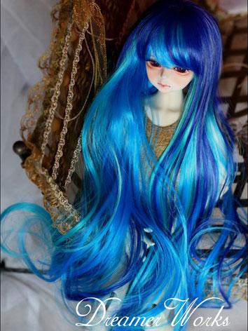 BJD Girl Mix Color Blue Wig...
